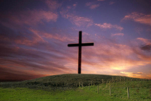 Picture_of_a_Cross_at_Sunset_Photographer_Ian_Britton